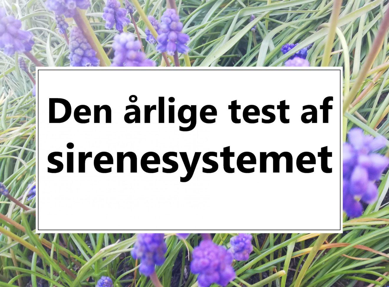 Årlig test af sirener
