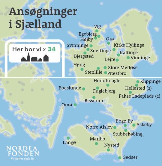31 småbyer vil skabe fællesskaber med nye aktiviteter på Sjælland